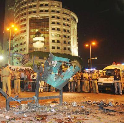 Região atingida pelo atentado terrorista contra a Corte Suprema de Delhi