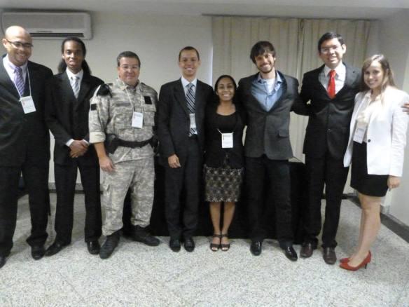 Juízes e participantes do Concurso Nacional Sistema Interamericano, 2013